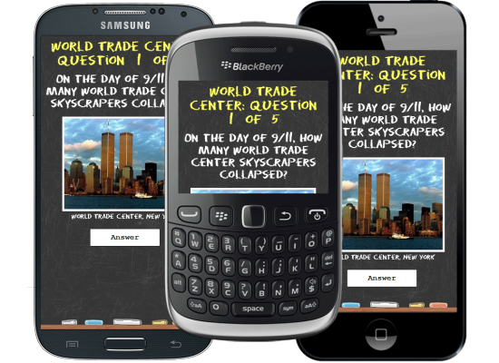 UK mobile app development for 9/11 Quiz