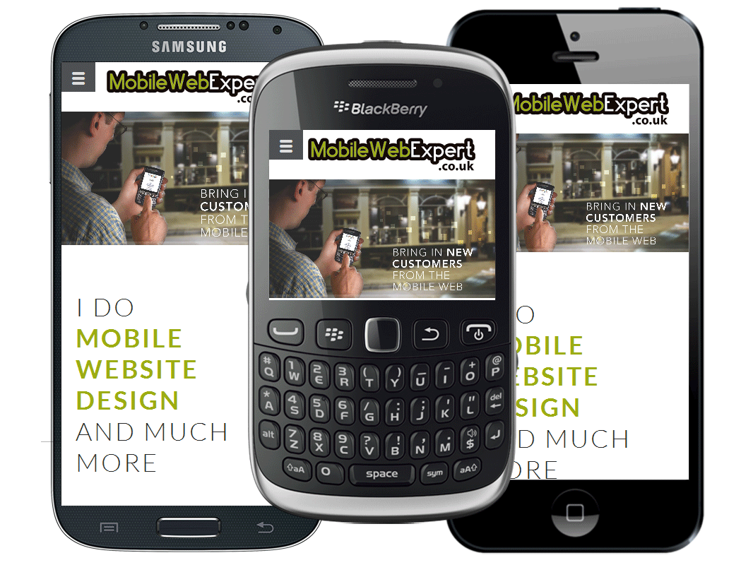 UK mobile website design for Mobile Web Expert