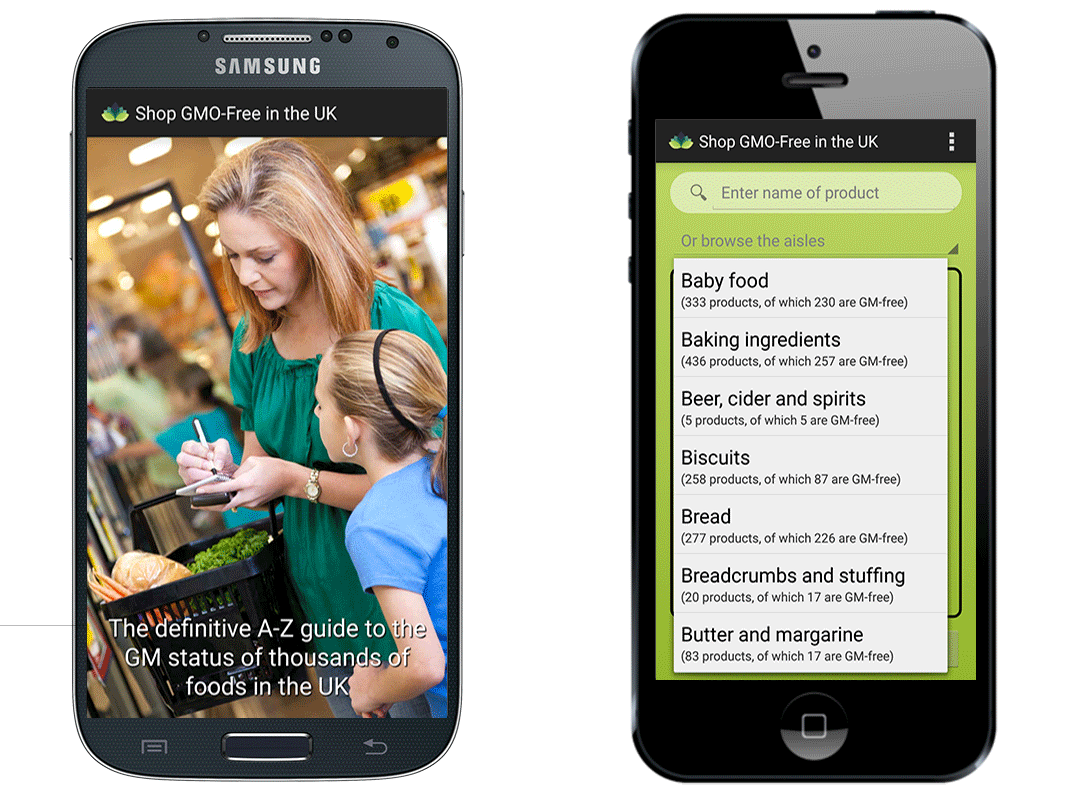 Shop GMO-Free in the UK - by Mobile Web Expert