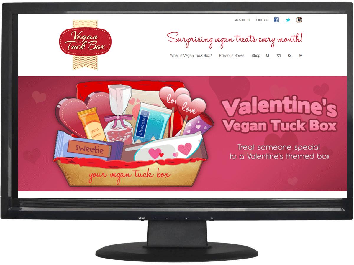 Website design for Vegan Tuck Box