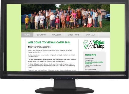 UK website design Huddersfield - Vegan Camp