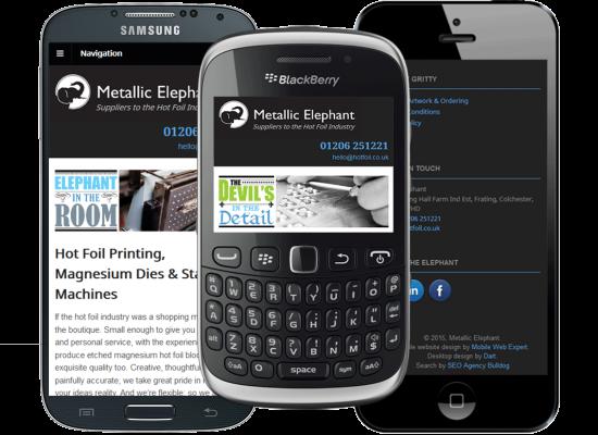 Mobile web design - Metallic Elephant