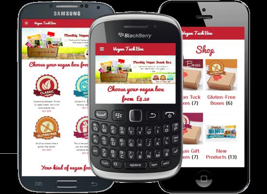 Mobile website design - Vegan Tuck Box